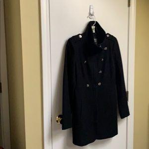 Guess Los Angeles black pea coat